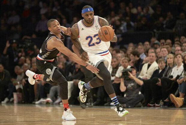 Jugadores del mes: LeBron James y Russell Westbrook