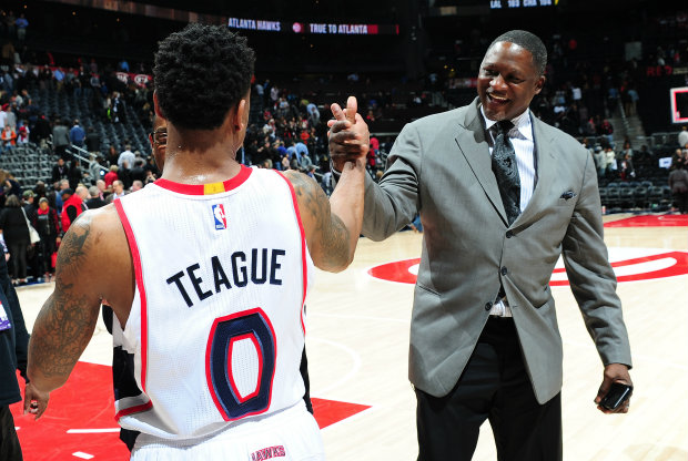 Jeff Teague y Dominique Wilkins./ Getty Images
