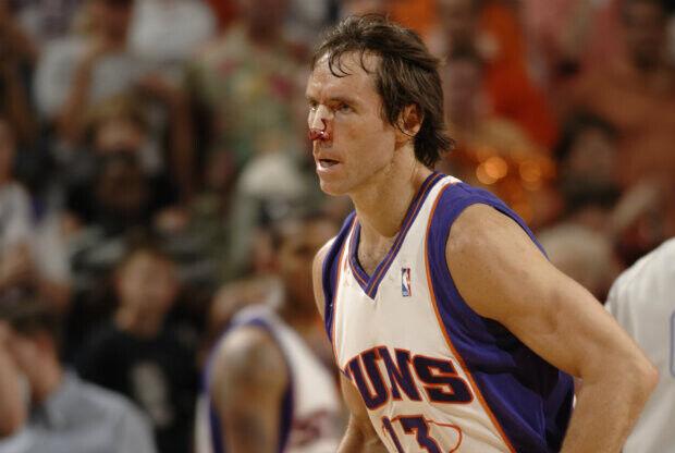 Steve Nash en su época en Phoenix Suns