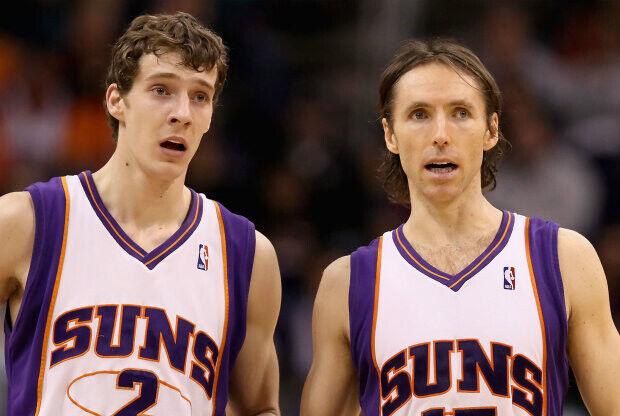 Goran Dragic y Steve Nash./ Getty Images