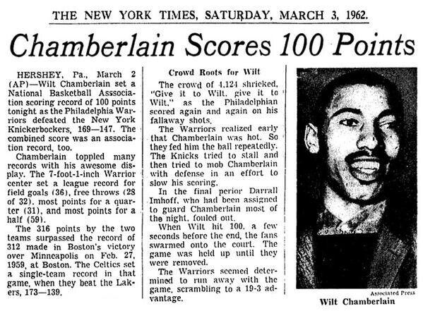 Wilt Chamberlain récord