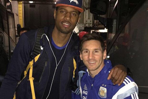 Lionel Messi y Paul George