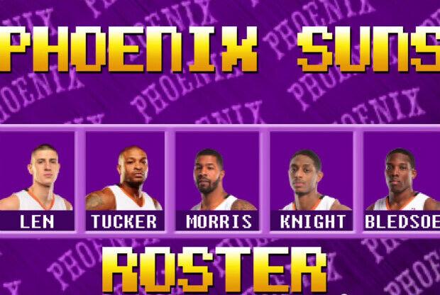 Phoenix Suns - videojuego 8-bits
