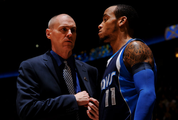 Rick Carlisle y Monta Ellis./ Getty Images