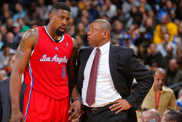 DeAndre Jordan y Doc Rivers