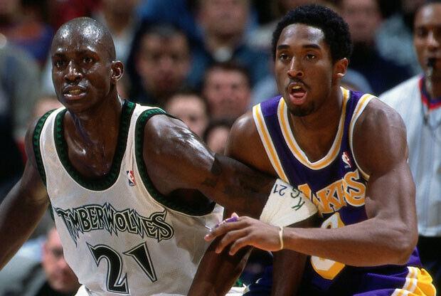 Kevin Garnett y Kobe Bryant