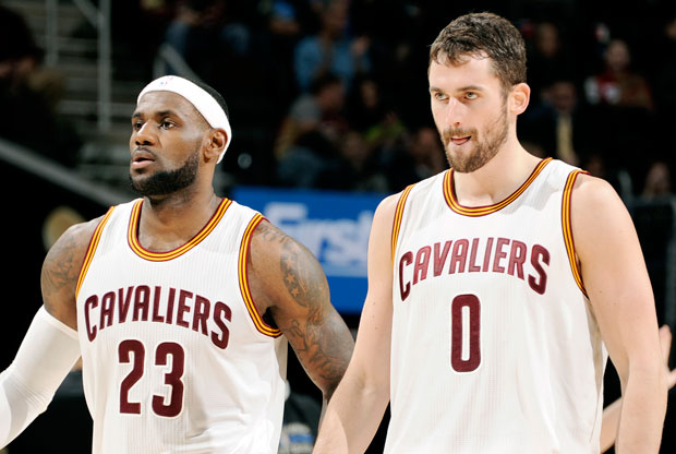 LeBron James y Kevin Love