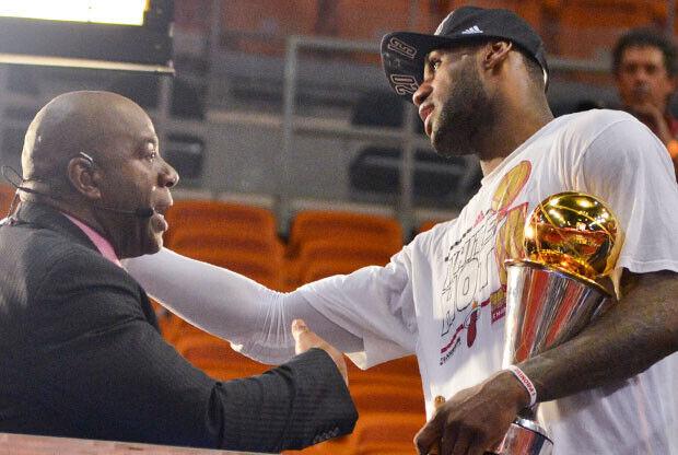 Magic Johnson y LeBron James