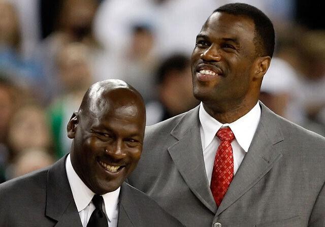 David Robinson y Michael Jordan