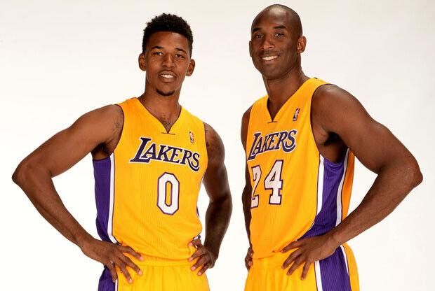 Nick Young y Kobe Bryant