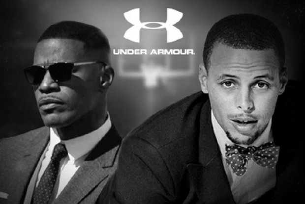 Stephen Curry y Jamie Foxx
