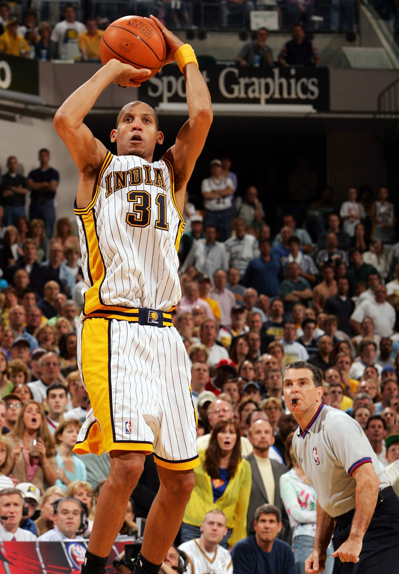 a biography of reggie miller the shooter Use #nbabestshooter to vote stephen curry reggie miller ray allen larry bird   @nba most annoying guy on tnt would be reggie miller.