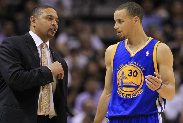 Stephen Curry y Mark Jackson./ Getty Images