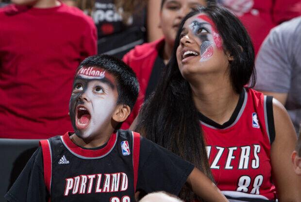 Portland Trail Blazers fans./ Getty Images