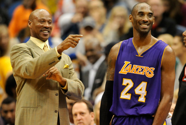 Kobe Bryant y Byron Scott./ Getty Images