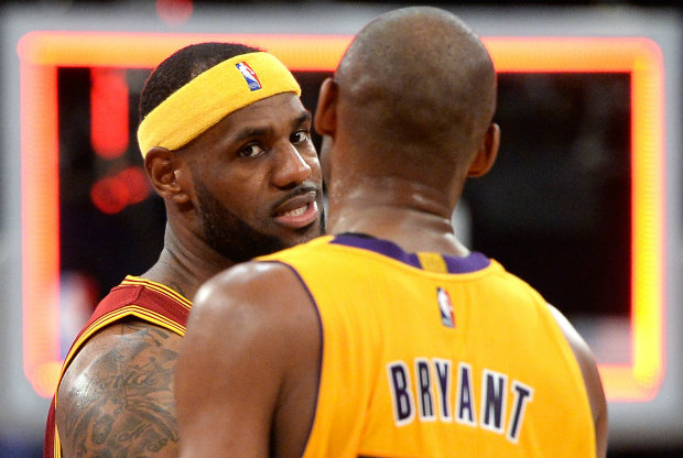 Kobe Bryant y LeBron James./ Getty Images