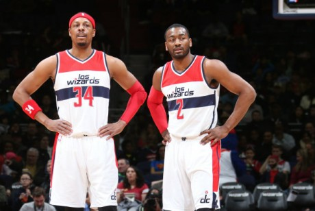 Paul Pierce y John Wall./ Getty Images