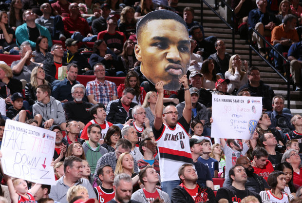 Portland Trail Blazers fans./ Getty Images