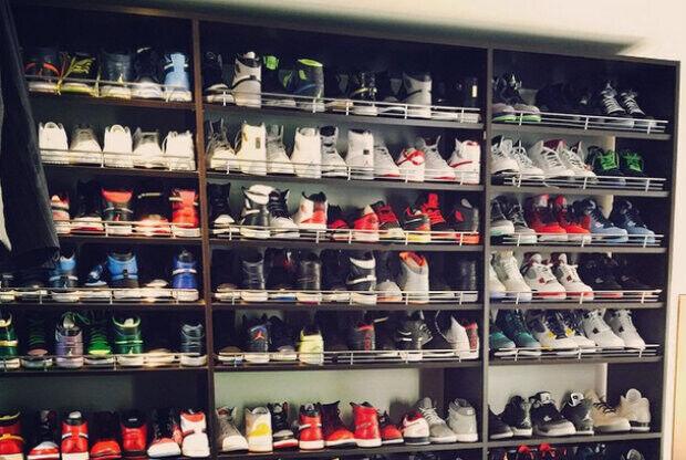 b7d9a456ca019 Ray Allen muestra su impresionante colección de zapatillas