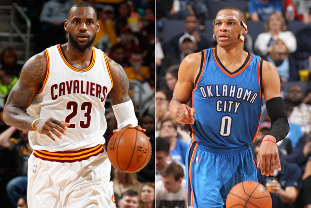 LeBron James y Russell Westbrook