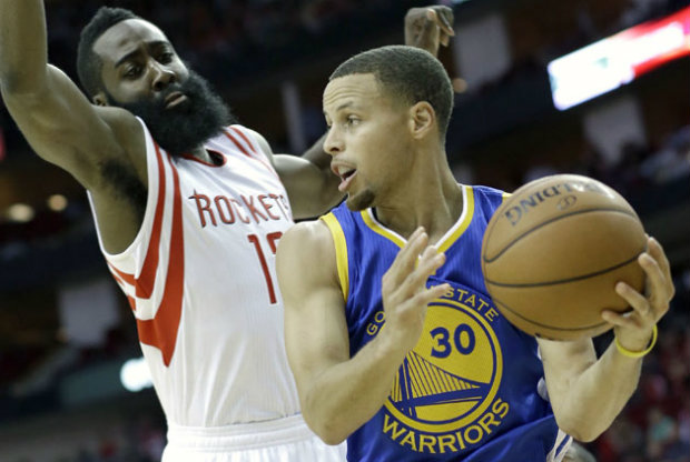 Stephen Curry y James Harden./ Getty Images
