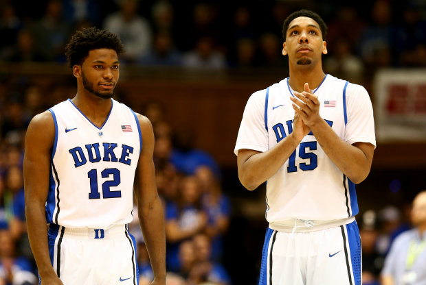 Justise Winslow y Jahlil Okafor./ Getty Images