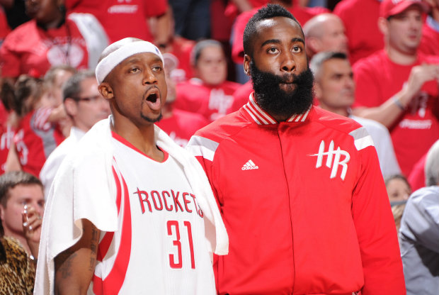 James Harden y Jason Terry./ Getty Images