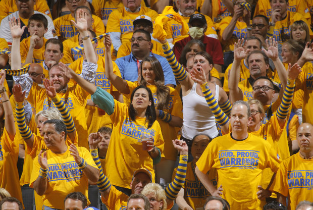 Golden State Warriors fans./ Getty Images