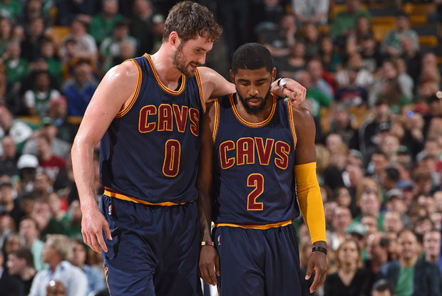 Kyrie Irving y Kevin Love
