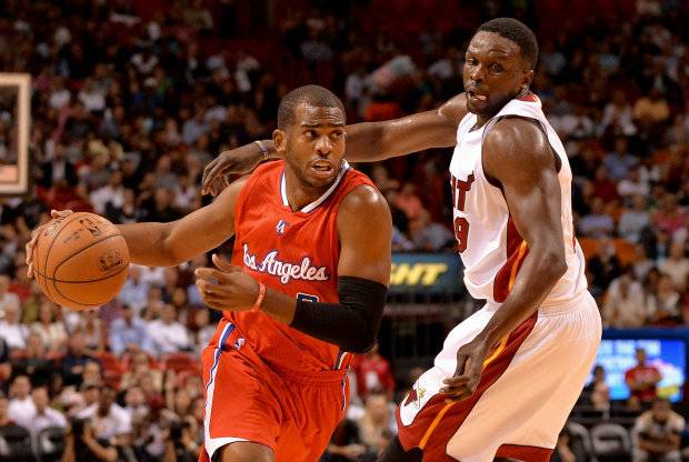 Chris Paul y Luol Deng / Getty Images
