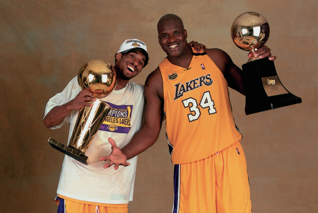 Kobe Bryant y Shaquille O'Neal / Getty Images