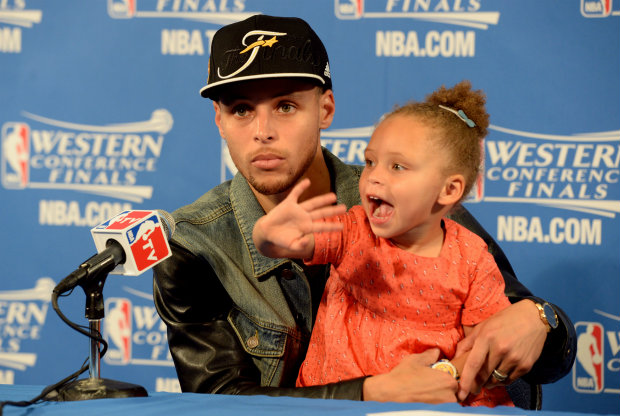 Riley Curry, la hija de Stephen Curry / Getty Images