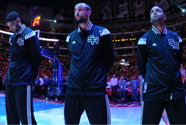 Tony Parker, Manu Ginobili y Tim Duncan / Getty Images