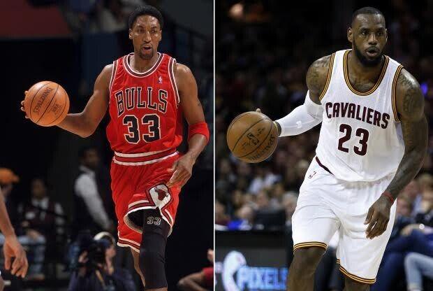 Scottie Pippen y LeBron James / Getty Images
