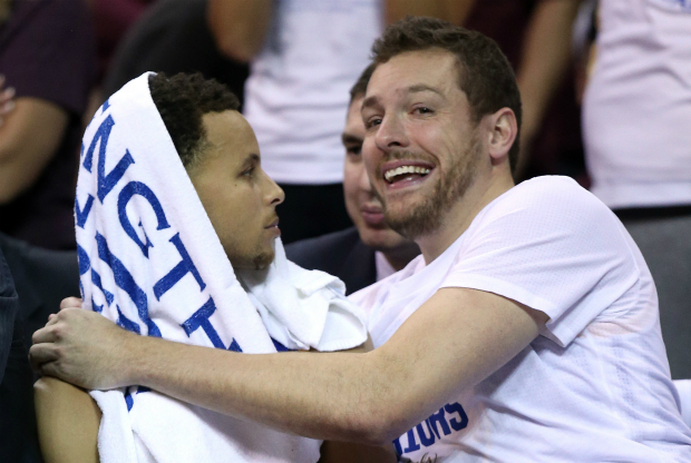 David Lee y Stephen Curry / Getty Images