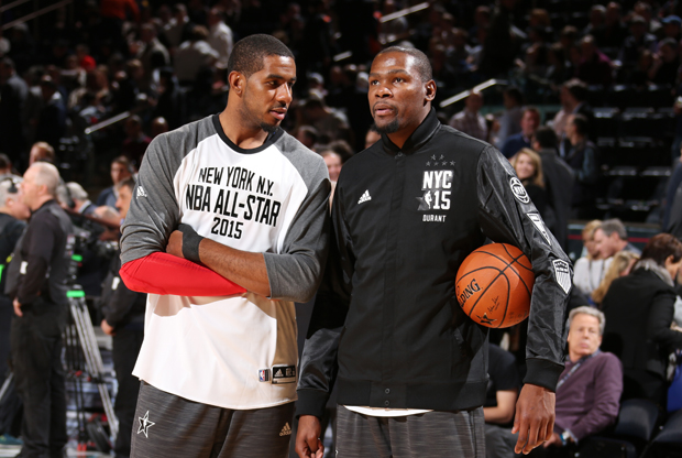 Kevin Durant y LaMarcus Aldridge / Getty Images