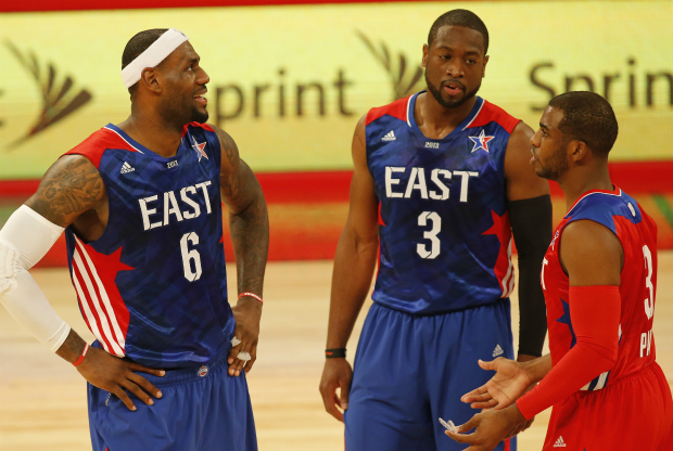 LeBron James, Dwyane Wade y Chris Paul / Getty Images