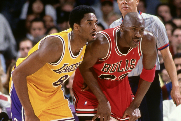 Michael Jordan y Kobe Bryant / Getty Images