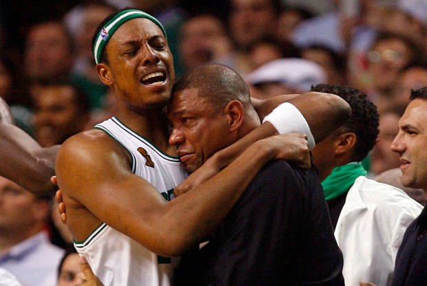 Paul Pierce y Doc Rivers / Getty Images