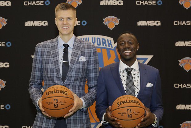 Porzingis y Grant / Getty Images
