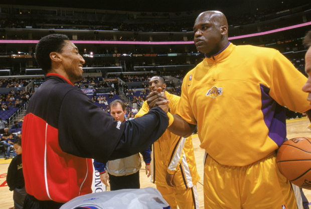 Shaquille O'Neal y Scottie Pippen / Getty Images