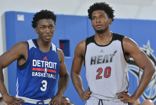 Stanley Johnson y Justise Winslow / Getty Images