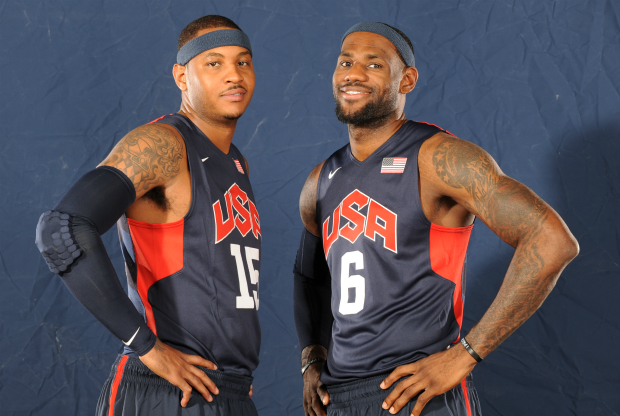 Carmelo Anthony y LeBron James / Getty Images