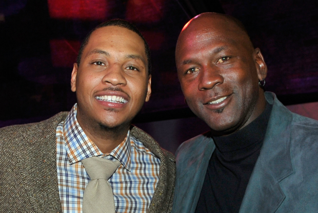 Carmelo Anthony y Michael Jordan / Getty Images