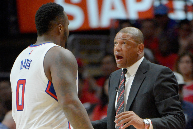 Doc Rivers y Glen Davis / Getty Images