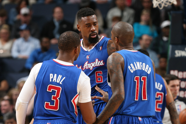 Jamal Crawford, DeAndre jordan y Chris Paul / Getty Images