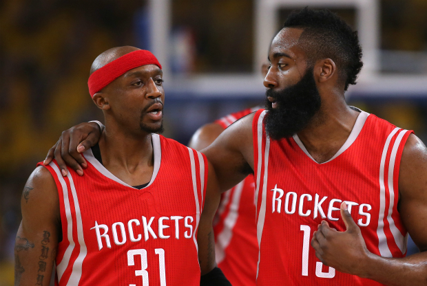 James Harden y Jason Terry / Getty Images