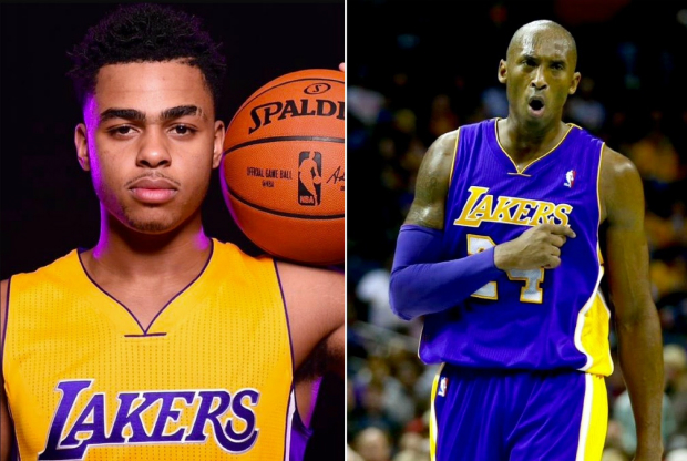 Kobe Bryant y D'Angelo Russell / Getty Images