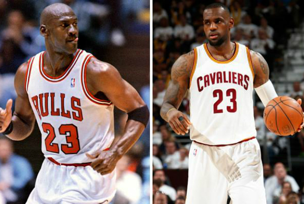 LeBron James y Michael Jordan / Getty Images