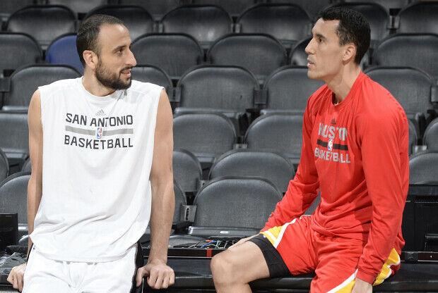 Manu Ginobili y Pablo Prigioni / Getty Images